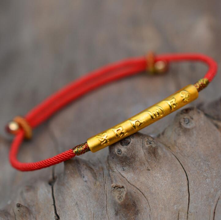 ювелирные изделия S925 стерлингов серебряные браслеты для пара ручной работы золота красные ниточки классические простые браслеты горячей моды бесплатно судоходства