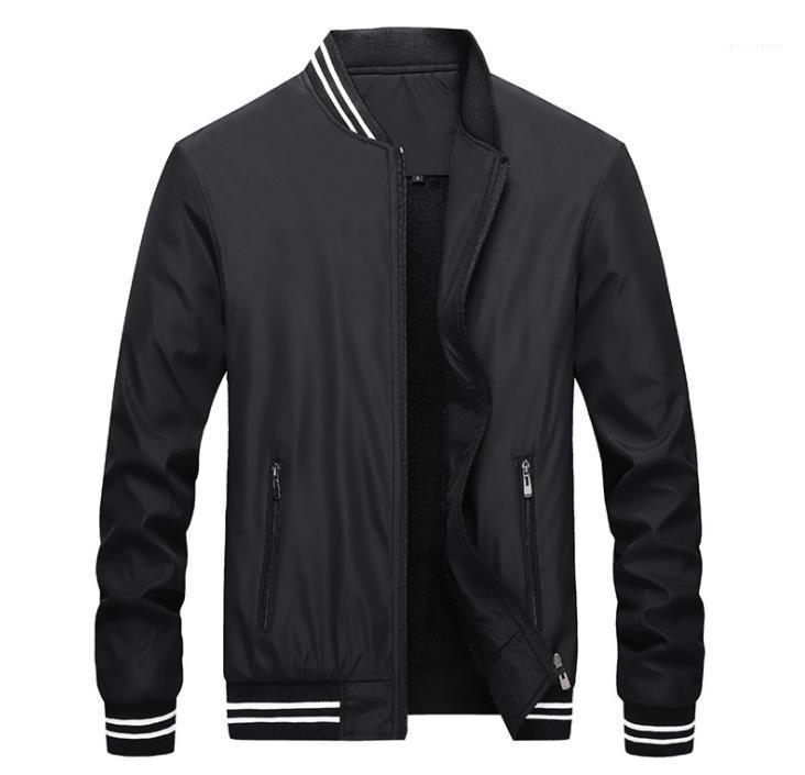 Panelled Zipper Fly Coats Stand Collar Long Sleeved Jacket Mens Clothing Mens Winter Wool Liner Jackets Solid