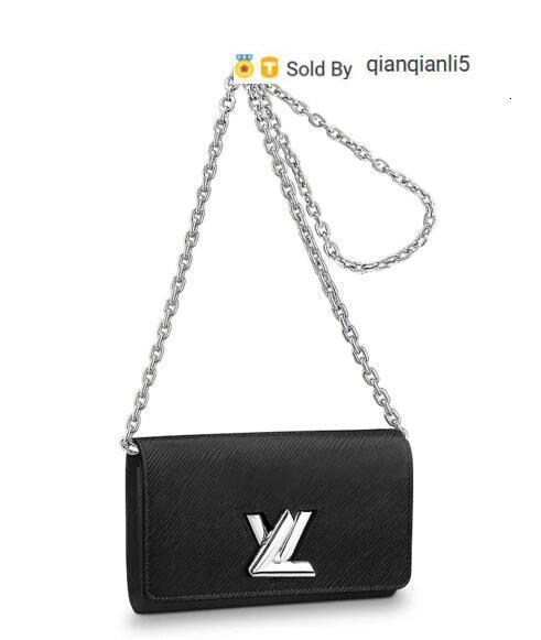 qianqianli5 XA4O TWIST CHAIN WALLET M62038 NEW WOMEN FASHION SHOWS EXOTIC LEATHER BAGS ICONIC BAGS CLUTCHES EVENING CHAIN WALLETS PURSE