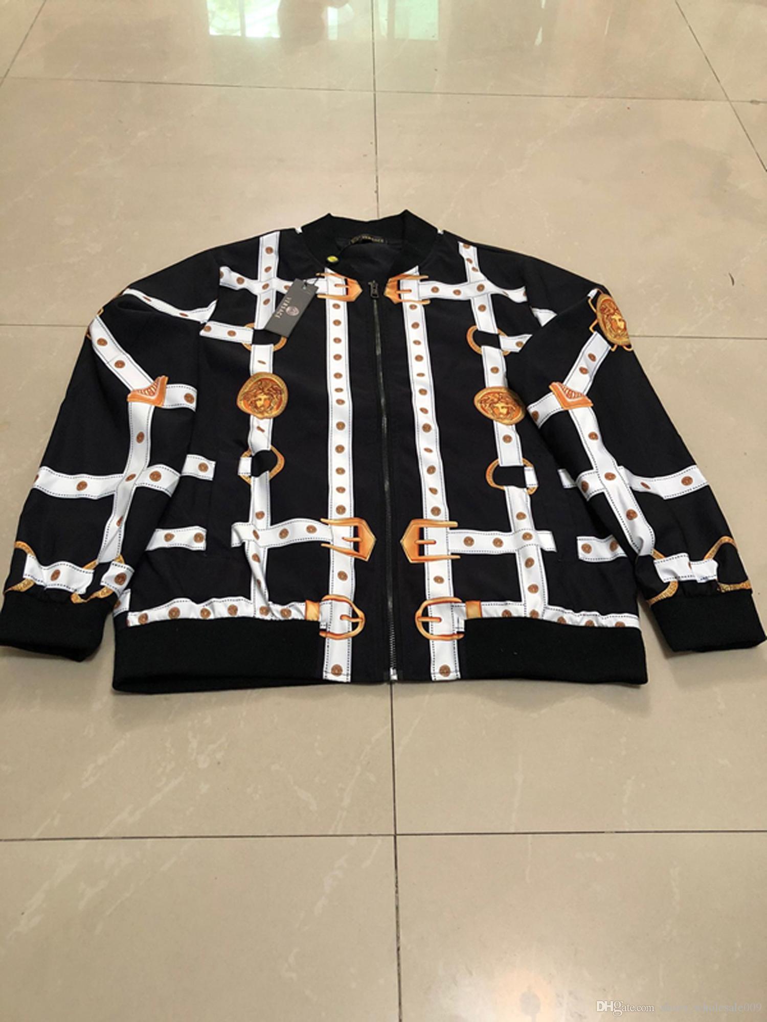 VERSA al por mayor del bordado de los hombres capa de la chaqueta del hombre de Hip Hop de Calle OFF Hombres chaqueta PALM Escudo Bombardero de ropa ÁNGELES zapatos blancos del deslizador 03