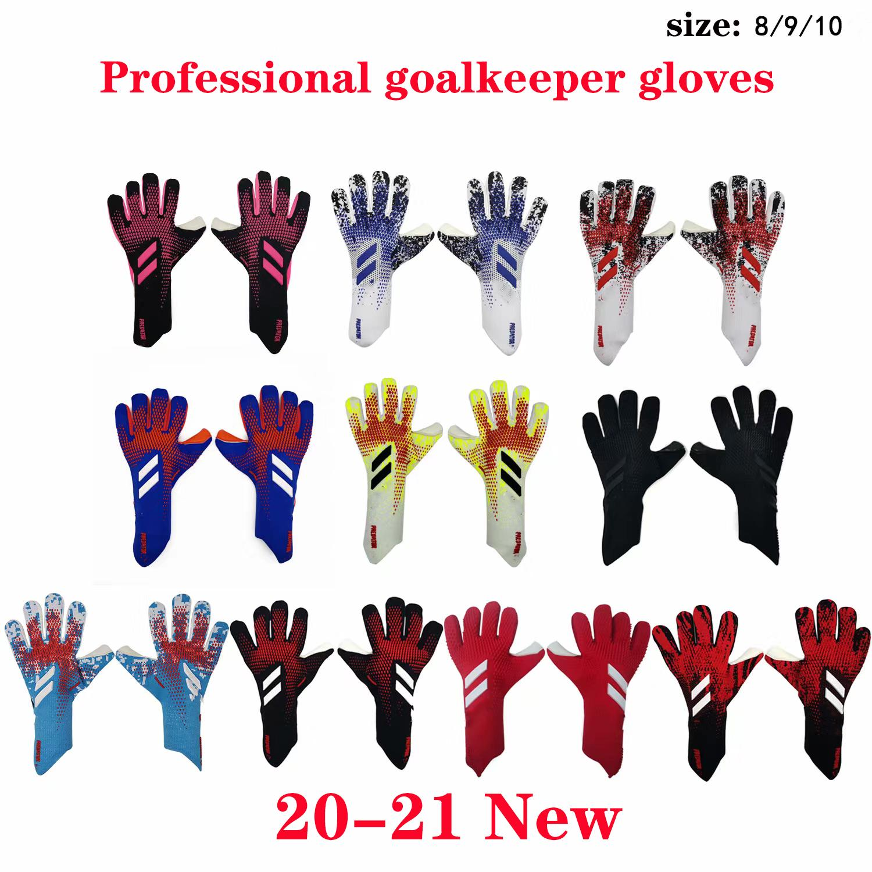 tamanho 8 9 10 marca profissionais Goleiro Luvas Latex Goalie do futebol Futebol Luvas Guantes