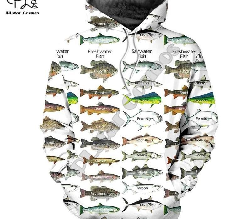 PLstar Cosmos New animal baixo Carp Fishing NewFashion Fisher Treino engraçado 3Dprint Unisex zipper / Hoodies / Moletons / Jacket 13