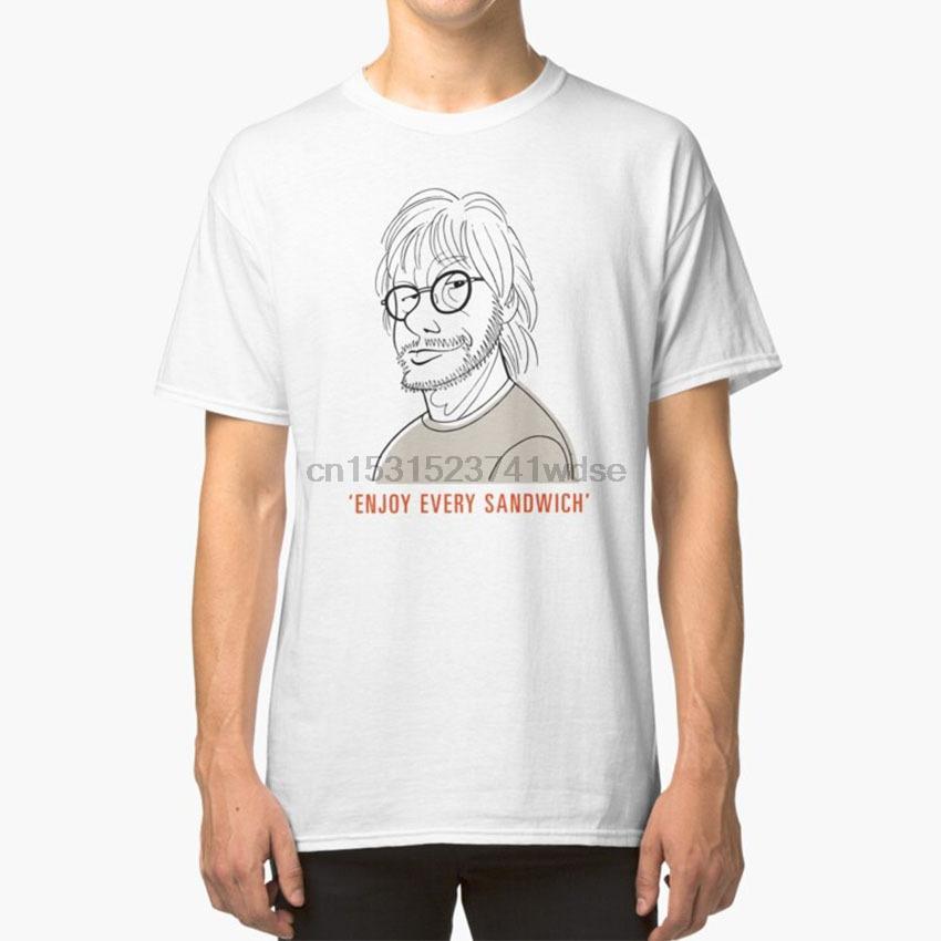 Aprecie cada sanduíche t - shirt Warren Zevon desfrutar Felicidade Carpe Diem feliz engraçado provérbios Dizer