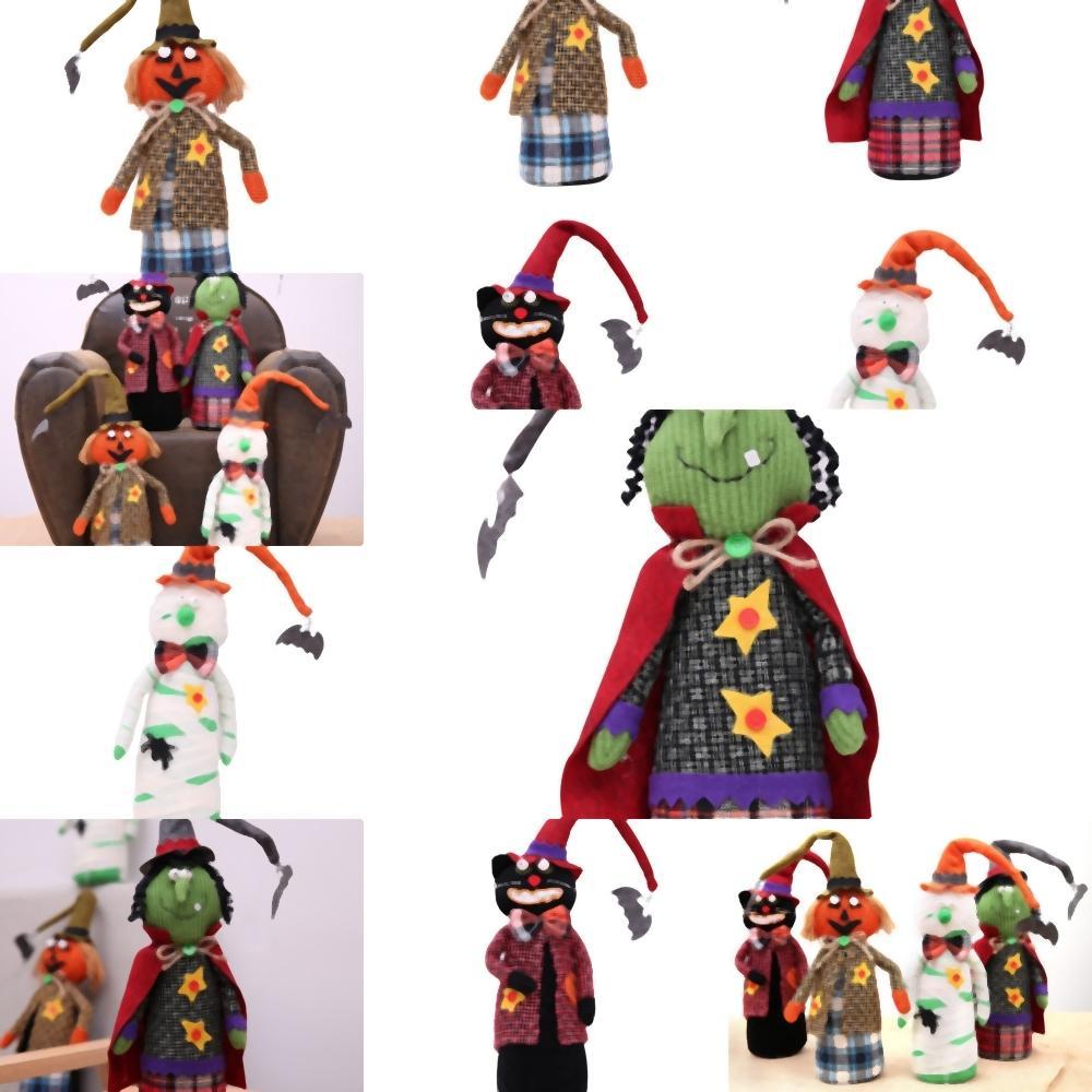 TcVXg Хэллоуин Плюшевые игрушки Ведьма тыквы Хэллоуин тыква украшения для кукол Принадлежности платье украшения товары подвески Scene вверх Festiv