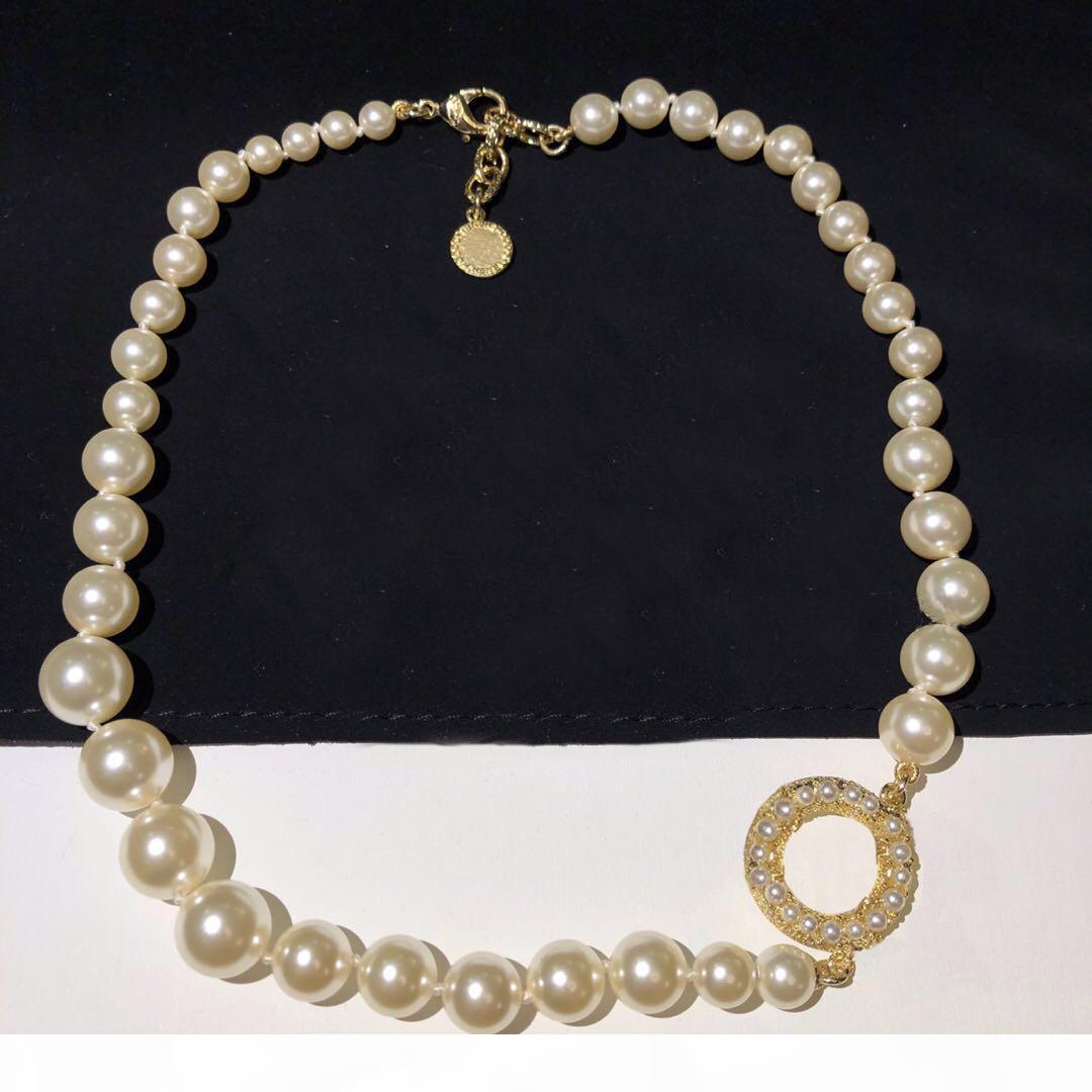 marque de mode 100 collier design anniversaire pour les femmes de soirée de mariage Lovers bijoux de luxe de cadeau pour la jeune mariée avec la boîte.