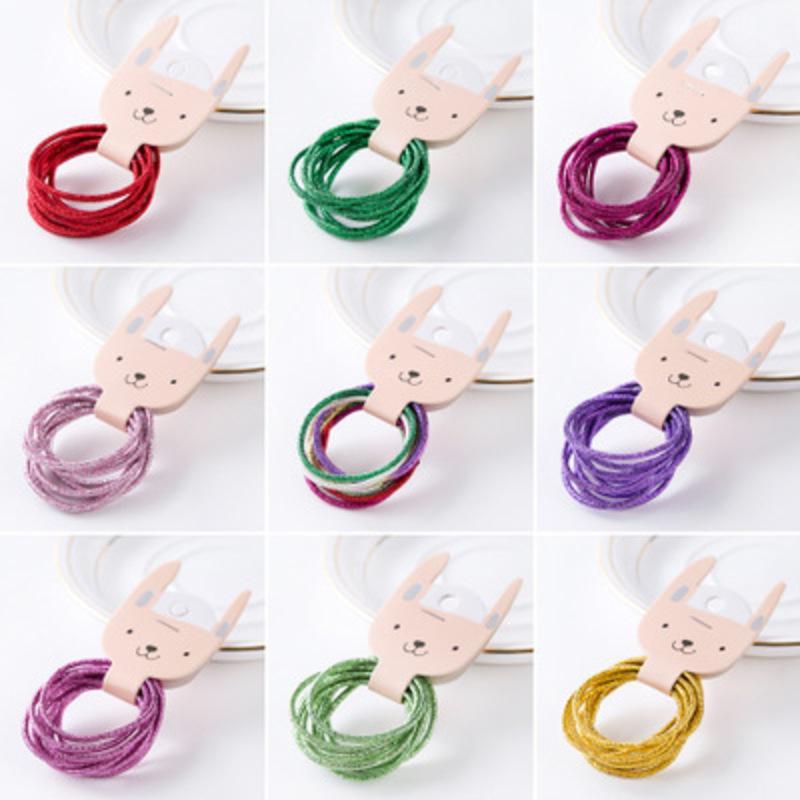 1PCS / 10 3-5CM Regenbogen-bunte Band Gum Krawatten für Mädchen Gummibänder Haar Elastics Kinder Accessoires Kopfschmuck 2020