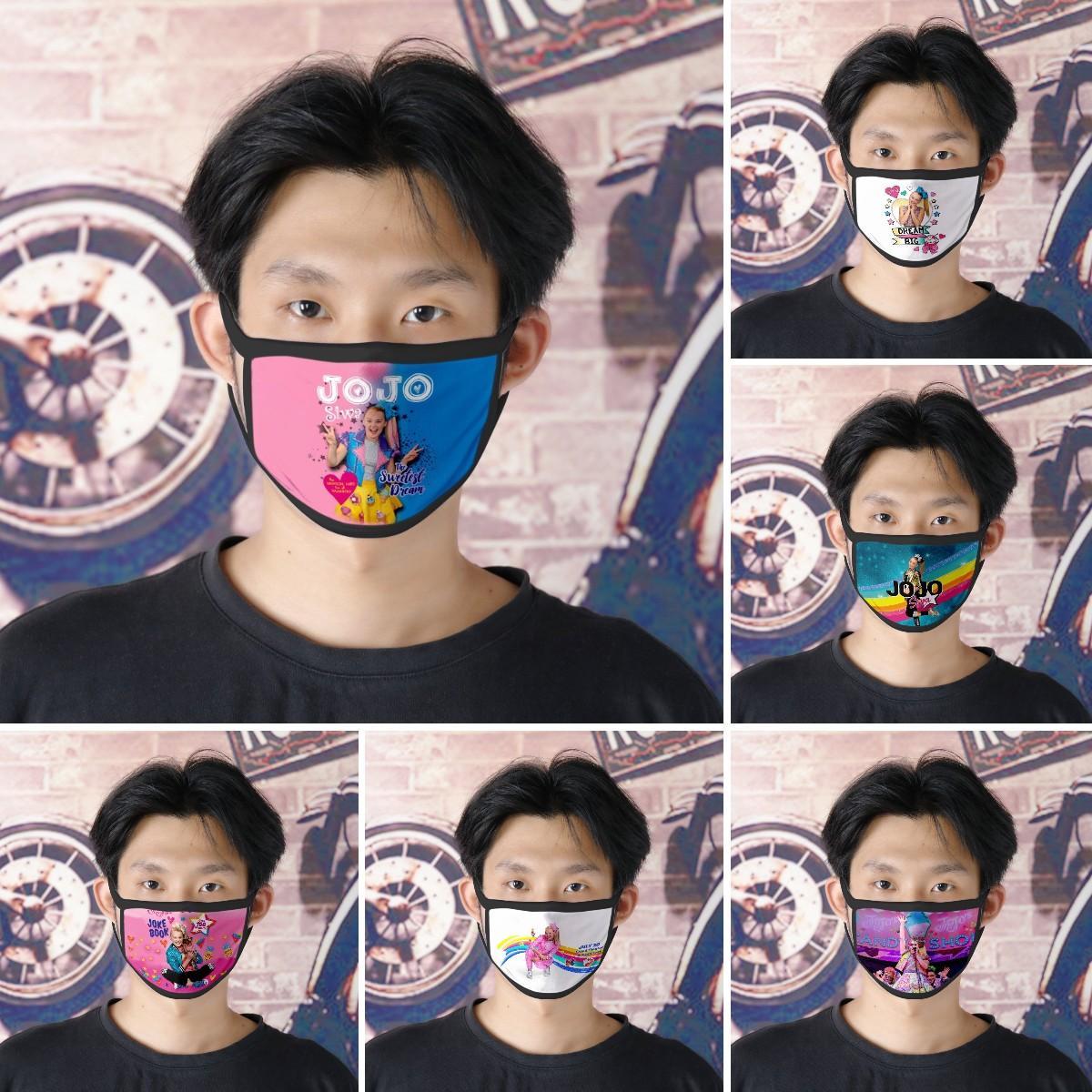 14 colores JoJo máscara de boca de un adulto Kids Fun boca de mufla Máscara reutilizable polvo caliente a prueba de viento Algodón Máscara KHA631