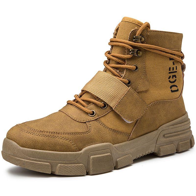 Mens Boots Winter Boots British Trend Men's Retro Tide Tooling Shoes Fashion Men's Snow Shoe Work