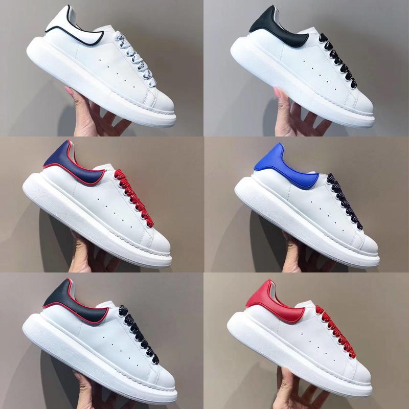 2020 uomini delle donne di modo oversize Sneakers in pelle di vitello liscia Lace-up riflettente Scarpe da ginnastica Platfoem Warking esterni con scatola EU35-46