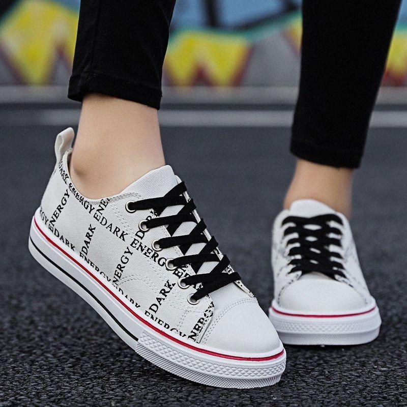 Tenis Mujer 2020 Yeni Kadın Tenis Ayakkabıları Unisex Açık Yürüyüş Flats Spor ayakkabılar siyah beyaz Kaymaz Spor men Spor Ayakkabı Ucuz aCFB #