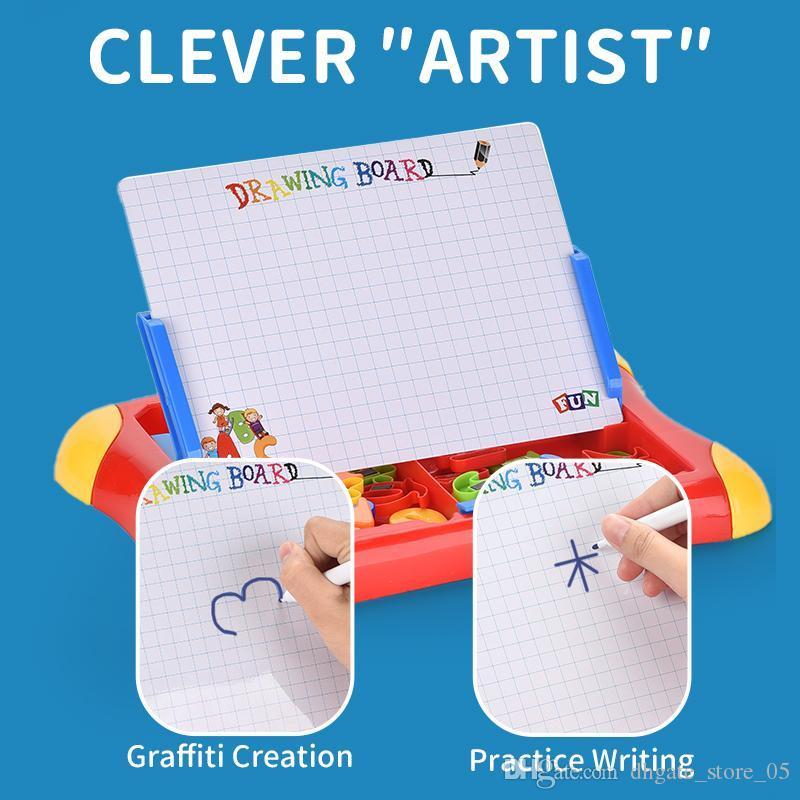 Kid Toy 2 in 1 Magnetic Scrivere Disegnare Caso Consiglio insegnamento precoce educazione giocattolo apprendimento per Boy neonata all'ingrosso