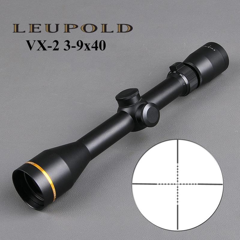 LEUPOLD VX-2 3-9x40mm Прицел Тактический прицел прицелов Sniper передач ж / Mounts