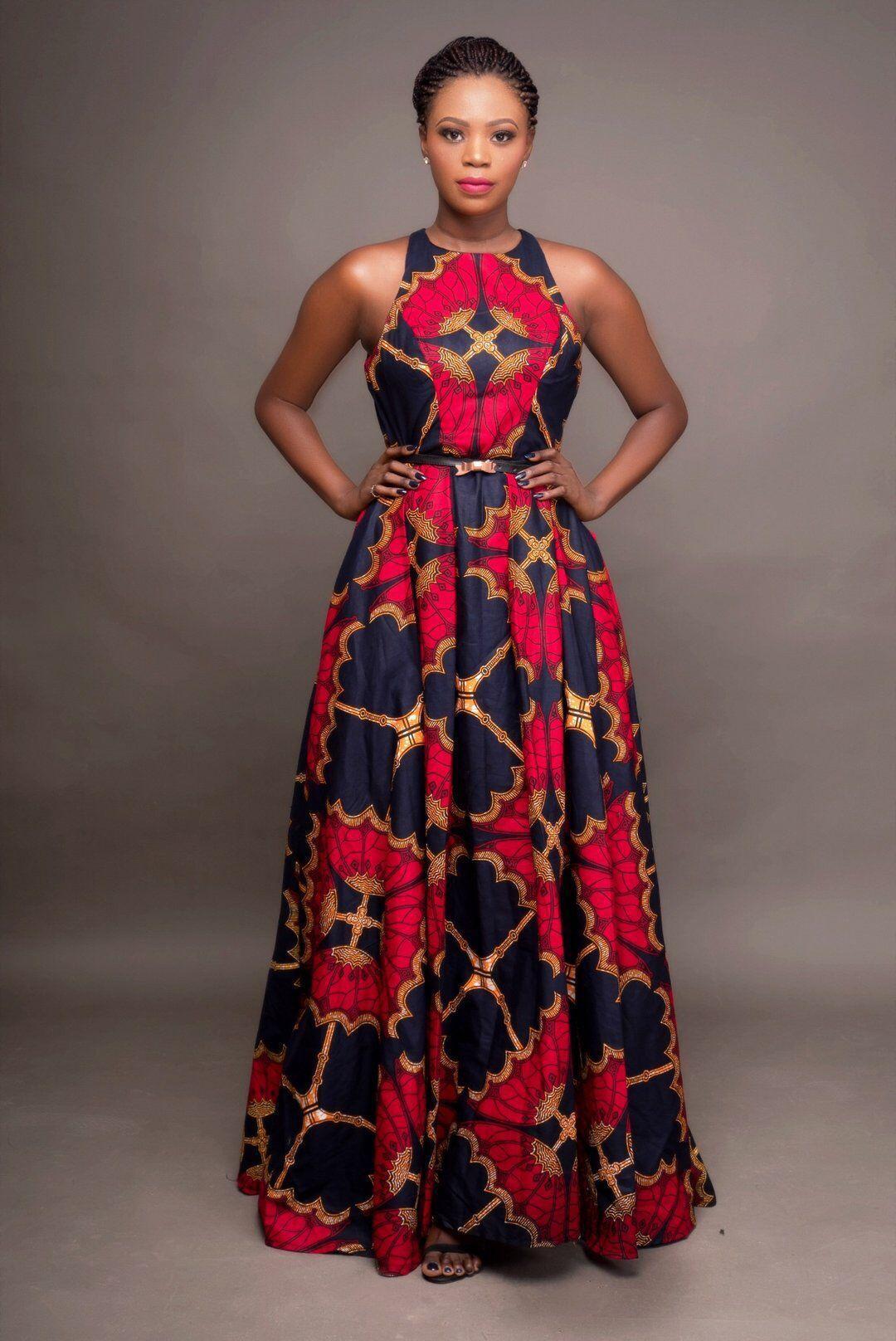 2020 패션 숙녀 아프리카 의류 라운드 넥 다시 키 맥시 드레스 민소매 플러스 사이즈 여성 로브 Africaine에 대한 아프리카 드레스를
