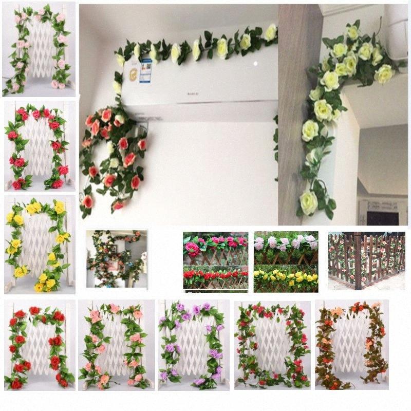 3 tamanhos Artificial Flower Vine Falso Silk Rose Ivy flores para decoração de casamento Vines artificiais suspensão Garland Home Decor HH9-2566 cxrU #