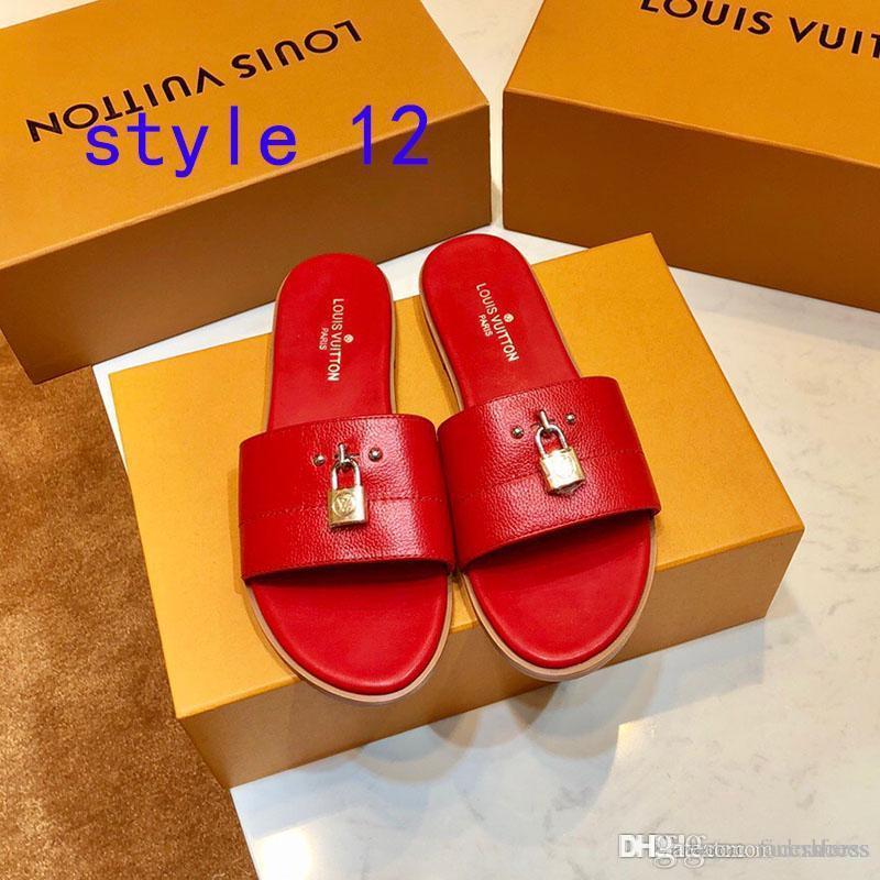 sandálias de fundo verão padrão de impressão digital de Mulheres Moda Couro Luxo chinelos Jelly Casual Com apartamentos de bloqueio chinelos de alta qualidade
