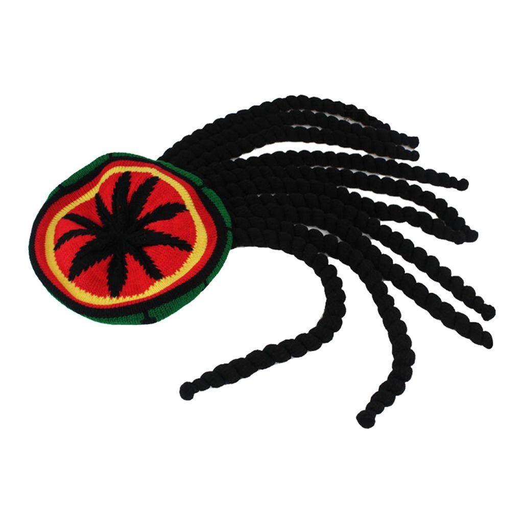 Braid Cap Reggae Dreadlocks jamaicano malha Gorros peruca Rasta Hat cabelo