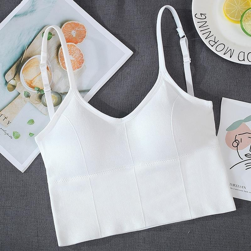 zRvQk Internet roupas íntimas de grande Kaká celebridades mesma forma de U volta sensuais envolveu-peito esportes tubo livre de tubo camisole roupas íntimas femininas