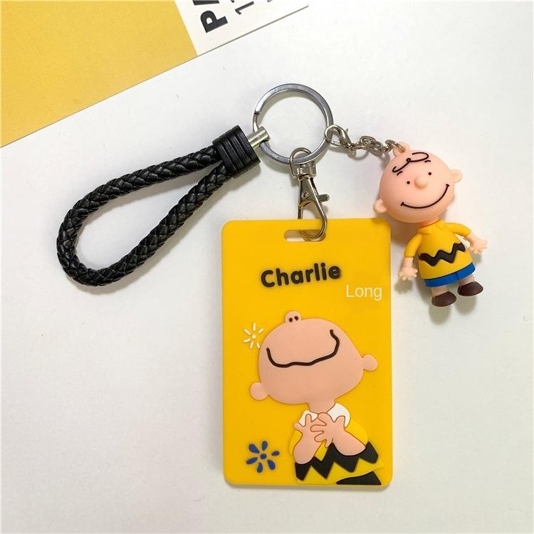 LBdBp criativa dos desenhos animados Snoopy silicone protetor tampa do cartão cartão de silicone manga charlie charlie certificado estudante chave uma capa protetora