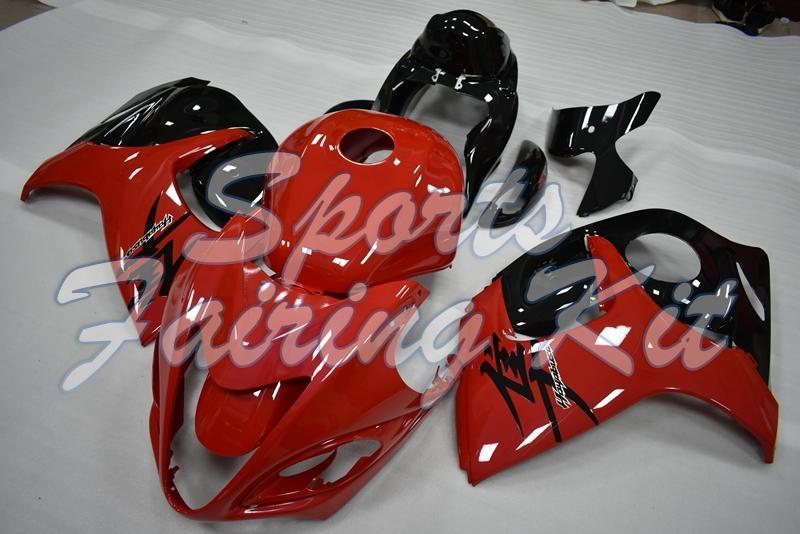 Carenados para Suzuki GSXR1300 2008 - 2014 Negro Rojo Kits de cuerpo completo GSXR1300 12 13 Plástico carenados GSXR 1300 2011
