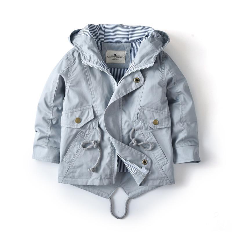 2 3 4 5 6 7 년 아기 유아 소년 소녀 봄 가을 자켓 브랜드 장비를 달게 탑 겉옷 소년 후드 의류 어린이 옷 LJ200814