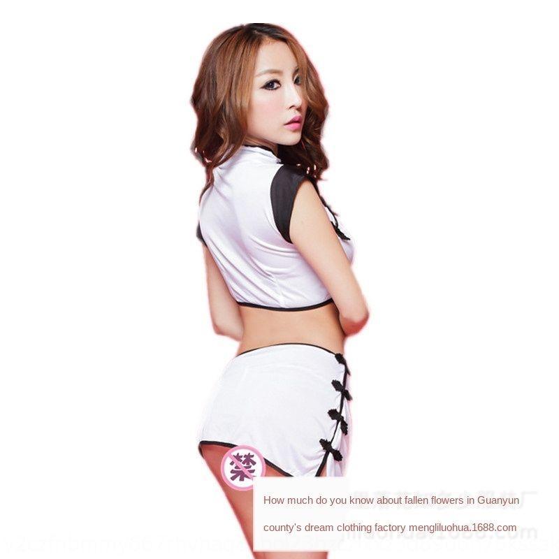 cABzv atractivo de la ropa interior del cheongsam zoMWJ tentación atractiva divide cl rendimiento de rol clásicos uniforme de las mujeres cheongsam estilo chino