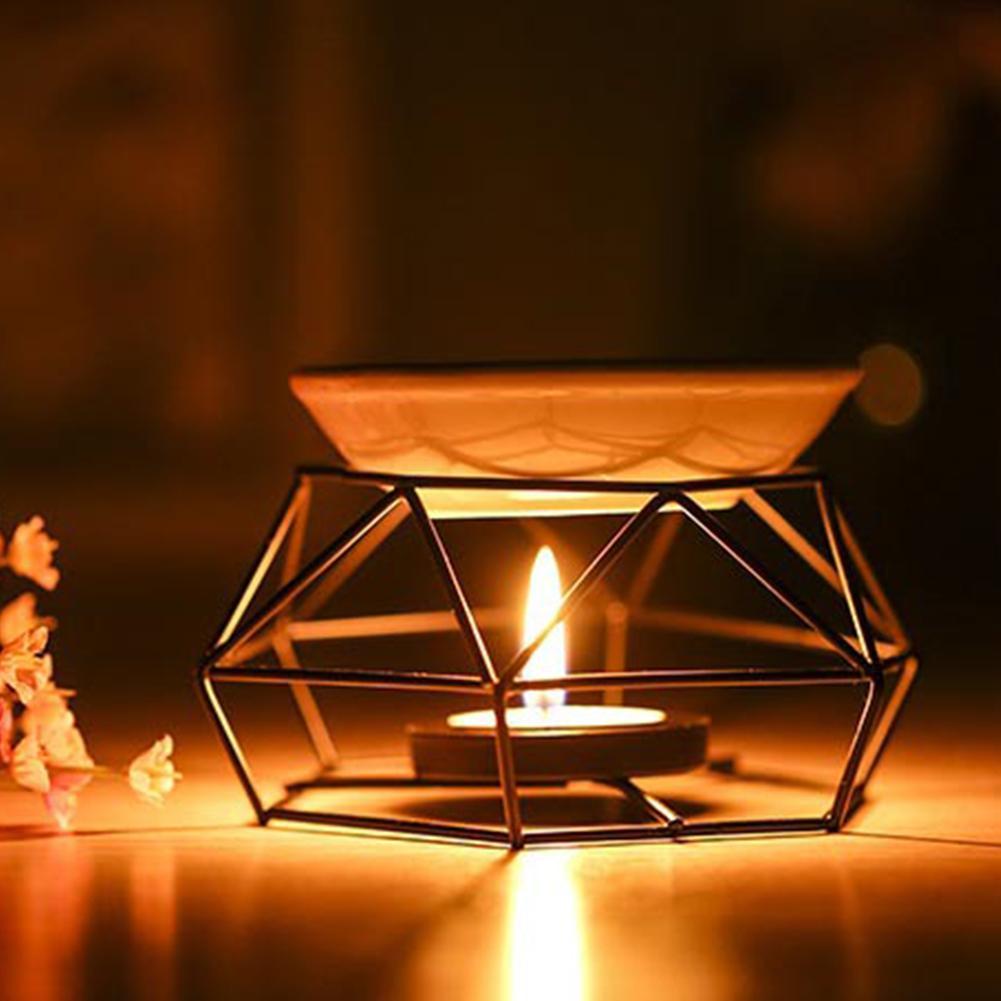Gifts Indoor Iron Home Decor Yoga Aromatherapy Oil Burner Black Aroma Diffuser