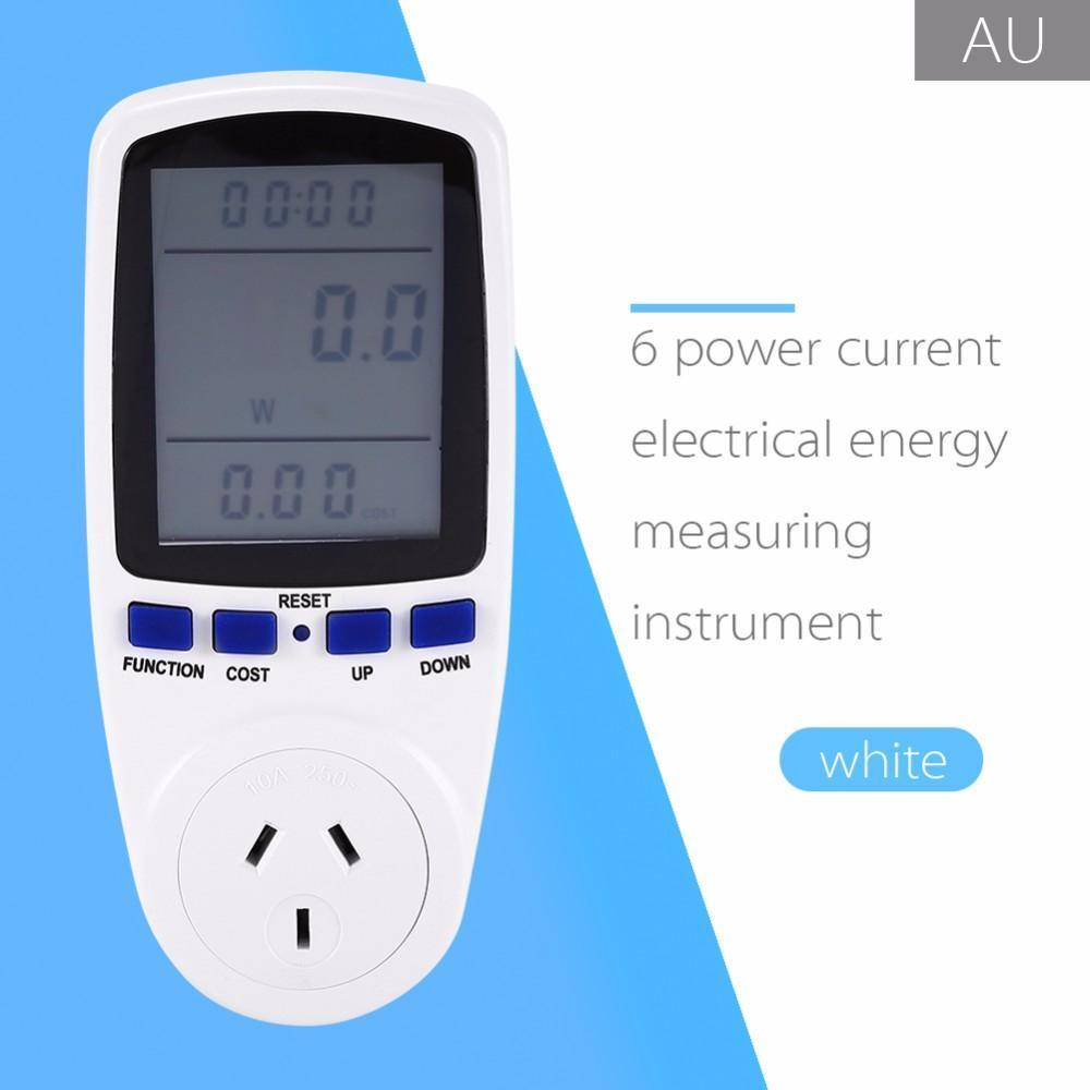 Cgjxs EU / UK / Au / Us Stecker Energie Watt Meter Strom-Monitor Power Analyzer