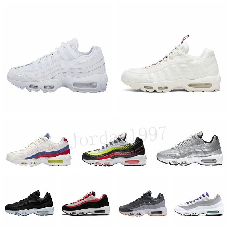 Çizme Erkekler Yastık 95 Sneakers Boyut 36-46 Ayakkabı çalıştıran Walking 2020 Erkekler 95 OG Yastık Deniz Kuvvetleri Spor Yüksek Kalite Chaussure 95S
