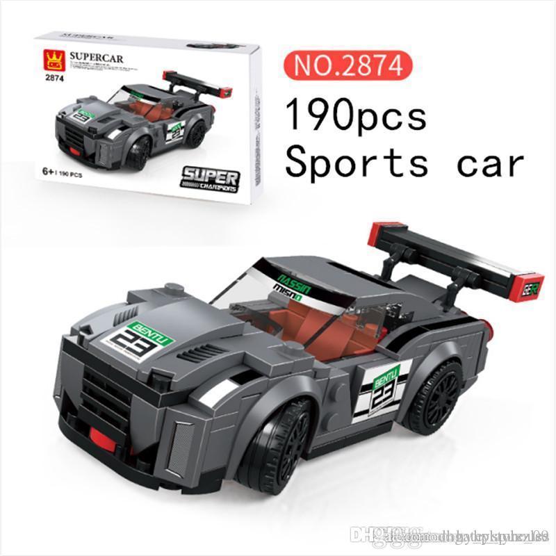 Kinder Bausteine Spielzeug Kinder Intelligenz Sport Auto Splicing Spielzeug 8 Styles Spaß Spielzeug für Frühkindliche Bildung Top-Qualität