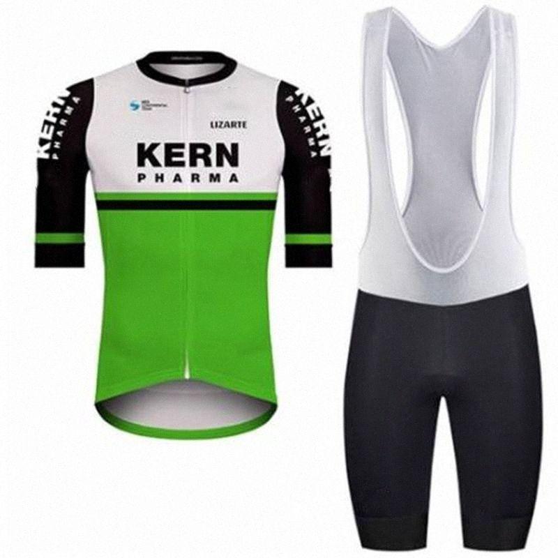 2020 2020 KERN PHARMA-Team Radtrikot Set Fahrrad-Kleidung MTB Bib Short Sleeve Kits Bekleidung Bike Uniforme Ropa Ciclismo Hombre InYk #