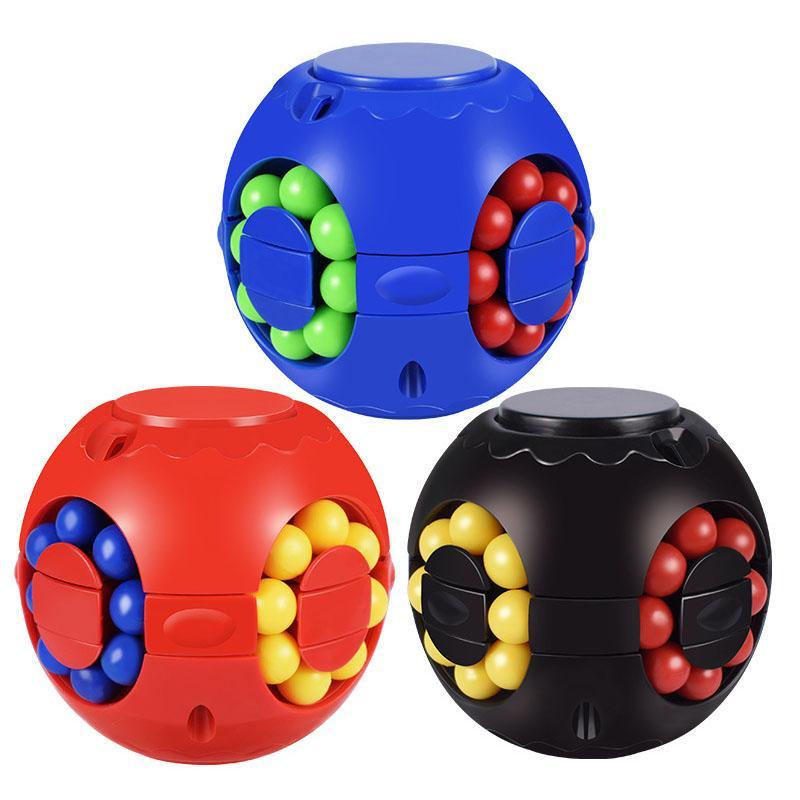 Magia Bean Quebra-cabeça Bola Cubo Crianças Inteligência Educacional Brinquedos Mão Spinner Fidget Toy Desktop Spinning Top