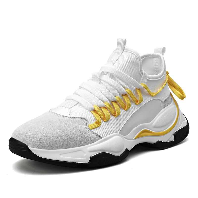 Masculina zapatillas de deporte de los hombres zapatos casuales de la moda transpirable gruesa suavemente único zapatillas de deporte Zapatos de hombre Formadores Krasovki Chaussures Homme papá