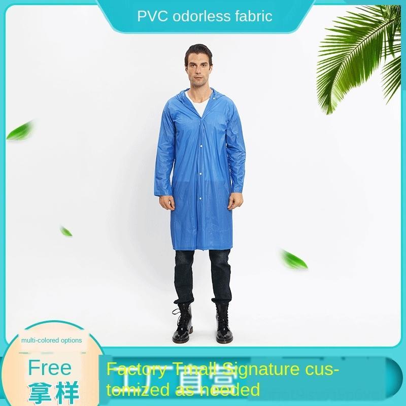 FHIjD no desechable cuerpo ropa exterior ropa del cuerpo de PVC mono viaje de la luz impermeable de PVC y los hombres impermeable largo de las mujeres