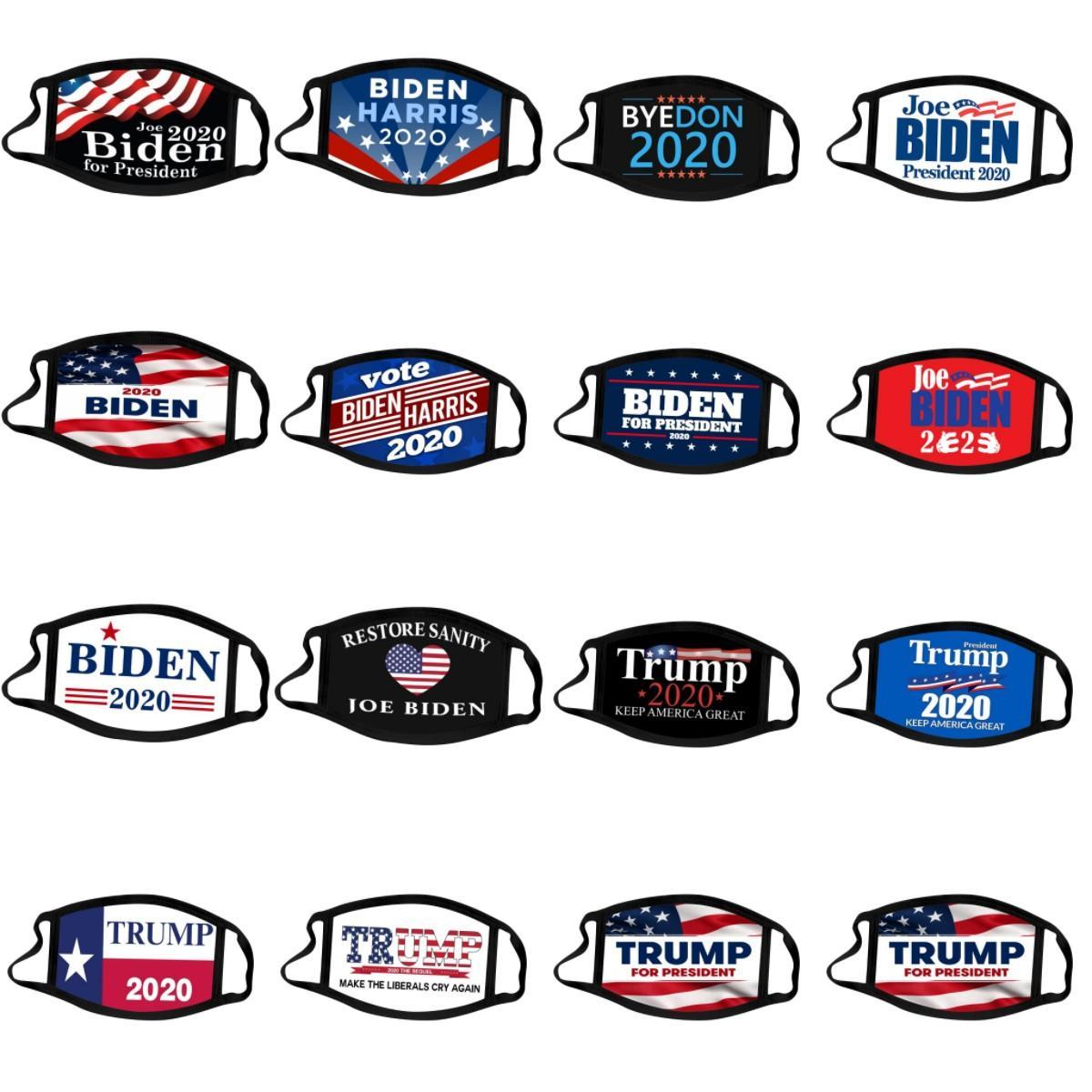 Joe Biden Harris Yüz Biden Trump 2020 Amerika Seçim Malzemeleri ABD Başkanı Seçim Maskeler Toz geçirmez Trump 2020 Maske CYZ2696 Maske