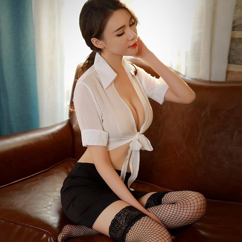 Sekreter günaha kalça hırka ZabEW isz8O kadın bakış açısı üniforma iç çamaşırı Seksi elbise kadın perspektif hırka üniforma tem etek