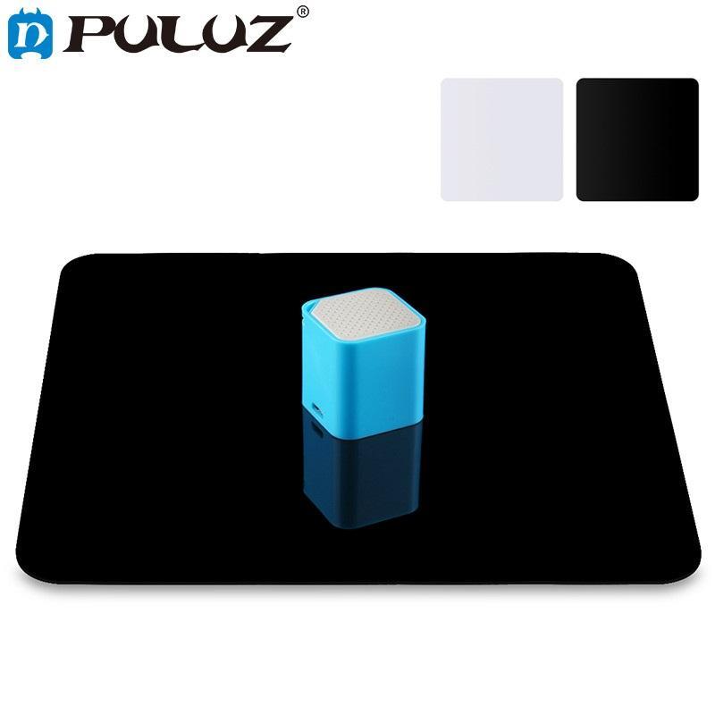 Фото Акриловая Reflective Display Таблица фона Совет для рабочего стола фотографии Черный Белый двойными бортами 20см / 30см / 40см
