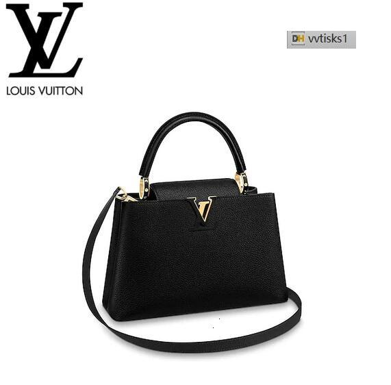vvtisks1 LMFX M42259 Capucines PM Black Women HANDBAGS ICONIC BAGS TOP HANDLES SHOULDER BAGS TOTES CROSS BODY BAG CLUTCHES EVENING