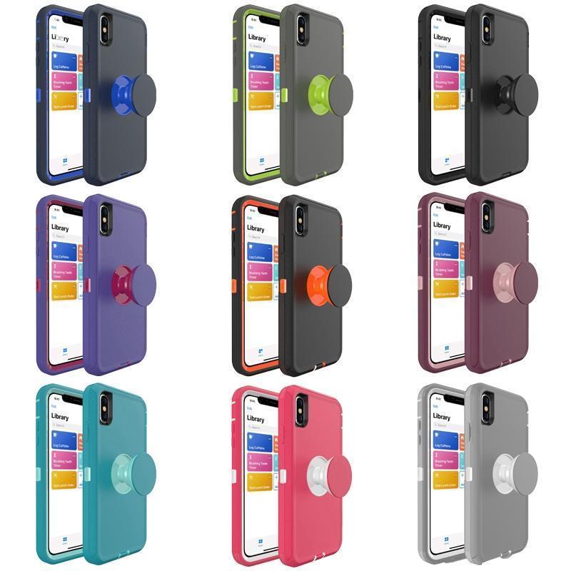 Cgjxsheavy Roboter Halter Combo Fall Ständer Stoß- Defender Luxuxentwerfer Telefon-Kästen für Iphone 11 Pro Max Xs X Xr 7 8 Plus