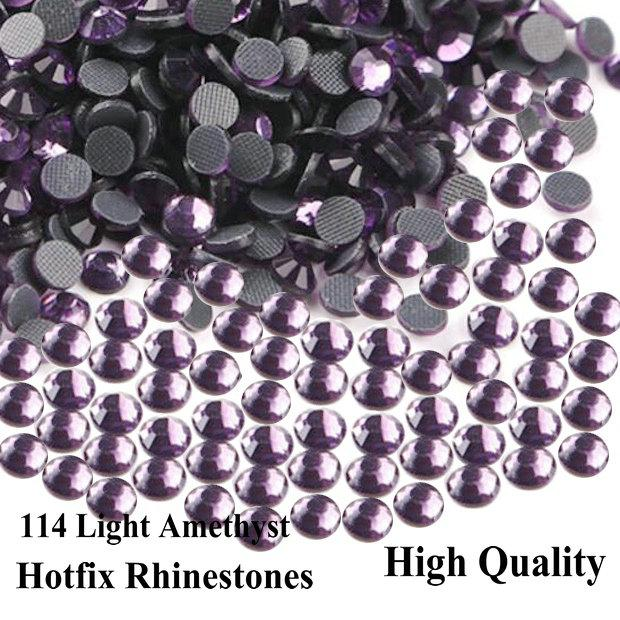 High Quality DMC hotfix Rhinestones Violet/Light Amethyst Flatback stones for DIY decorations or designs