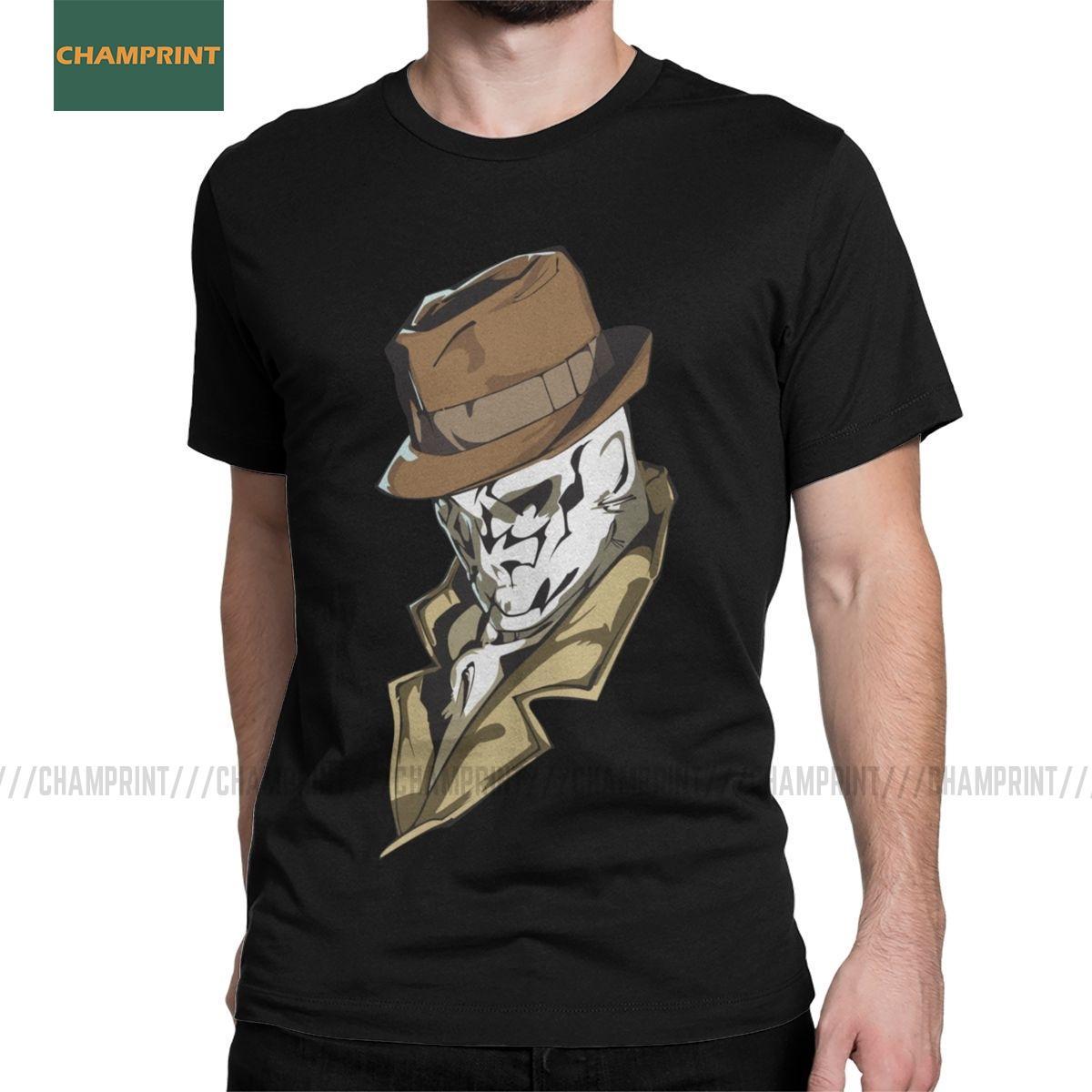 Rorschach Büste Watchmen T-Shirts Männer Smiley Dr Manhattan Novel Alan Moore Cotton Tees O-Ausschnitt Kurzarm-T-Shirts in Übergrößen
