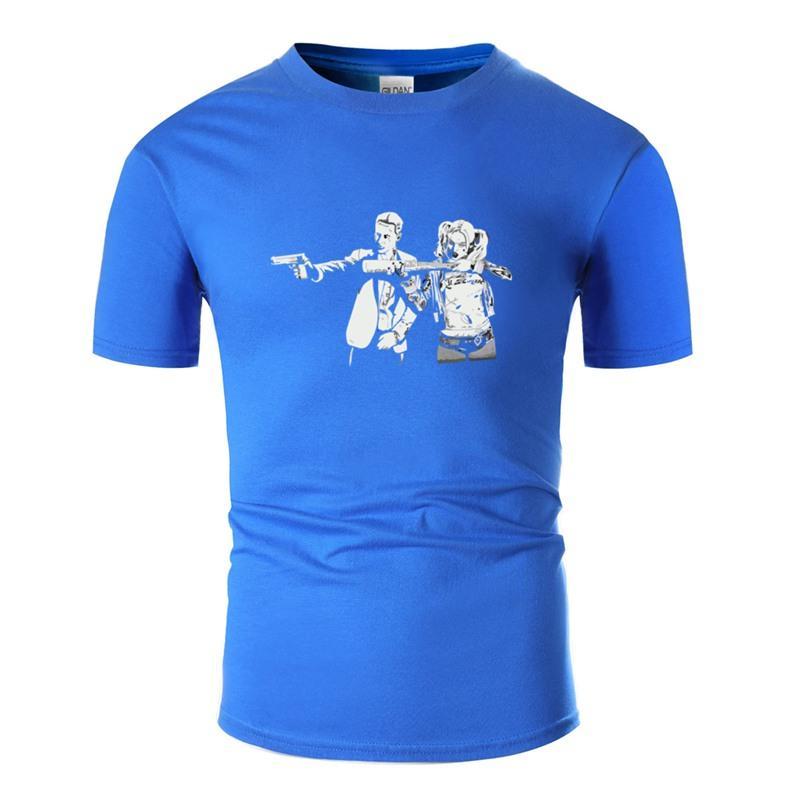 Отпечатано Летняя Самоубийство Fiction Футболка 100% хлопок Crew Neck Одежда Высокий Adult Tshirts Tee Shirt Pop Top Tee