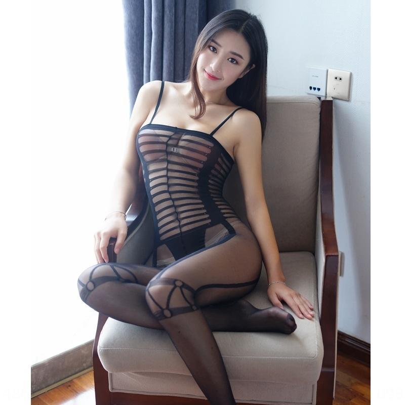 sexy prospettiva Baihua Angelo strisce di apertura libera tentazione fionda tuta interesse 353 calzini imbracatura delle donne calze collant