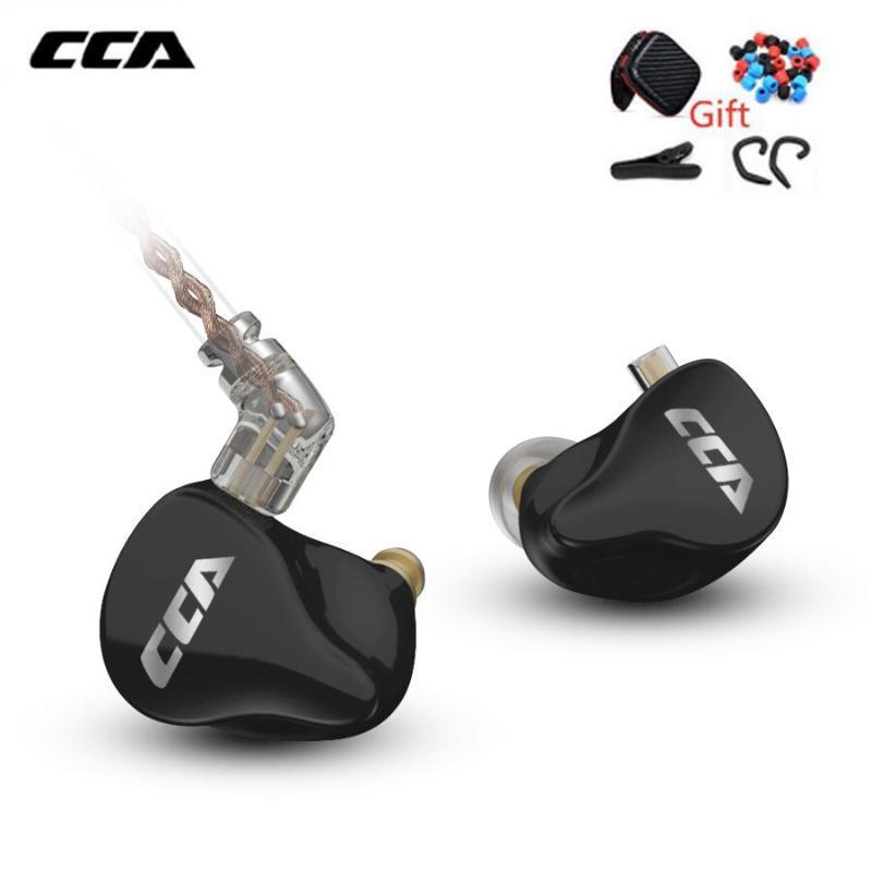 CCA CA16 7BA + 1DD Drivers híbrido no fone de ouvido com 2PIN Cabo HIFI Monitoramento Headset para KZ ZSN PRO ZST ZSX C12 C16 A10 Z1D