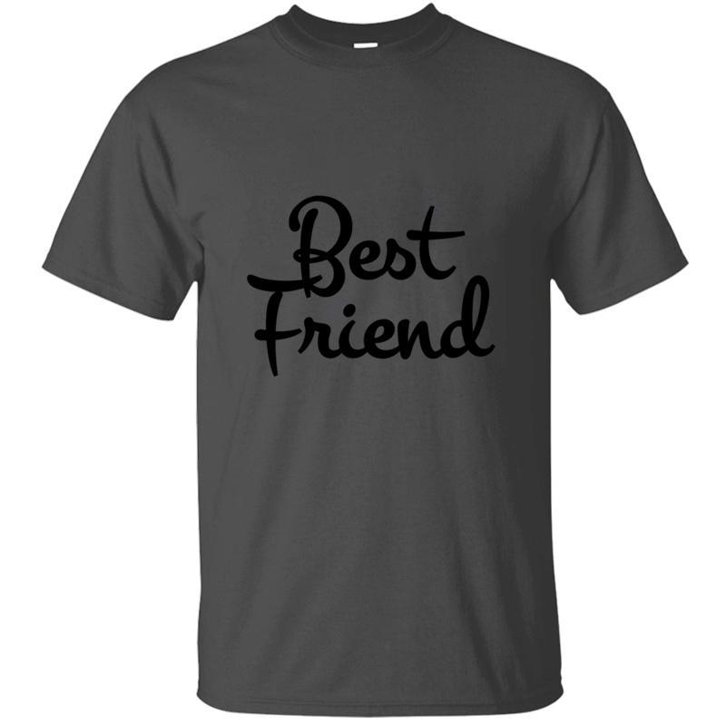Algodón Humor mejores amigos camiseta para los hombres 2019 Impreso Hombres camiseta clásica cómica de Tops Ropa