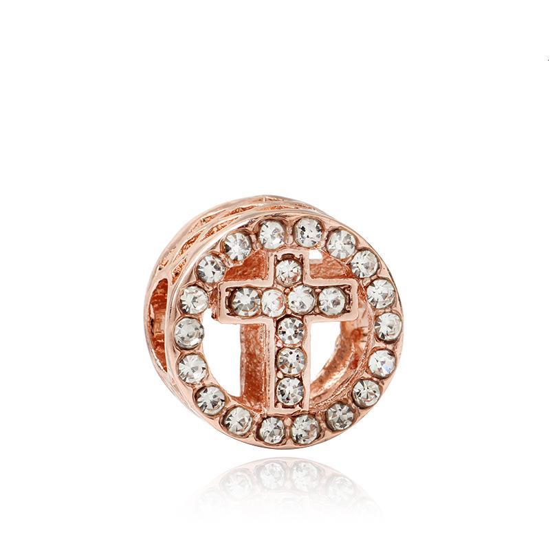 Nueva agosto encantos de cristal cruzan los encantos DIY de la joyería pendiente de cuentas adaptación de pandora collar de la pulsera del brazalete original para regalos mujeres