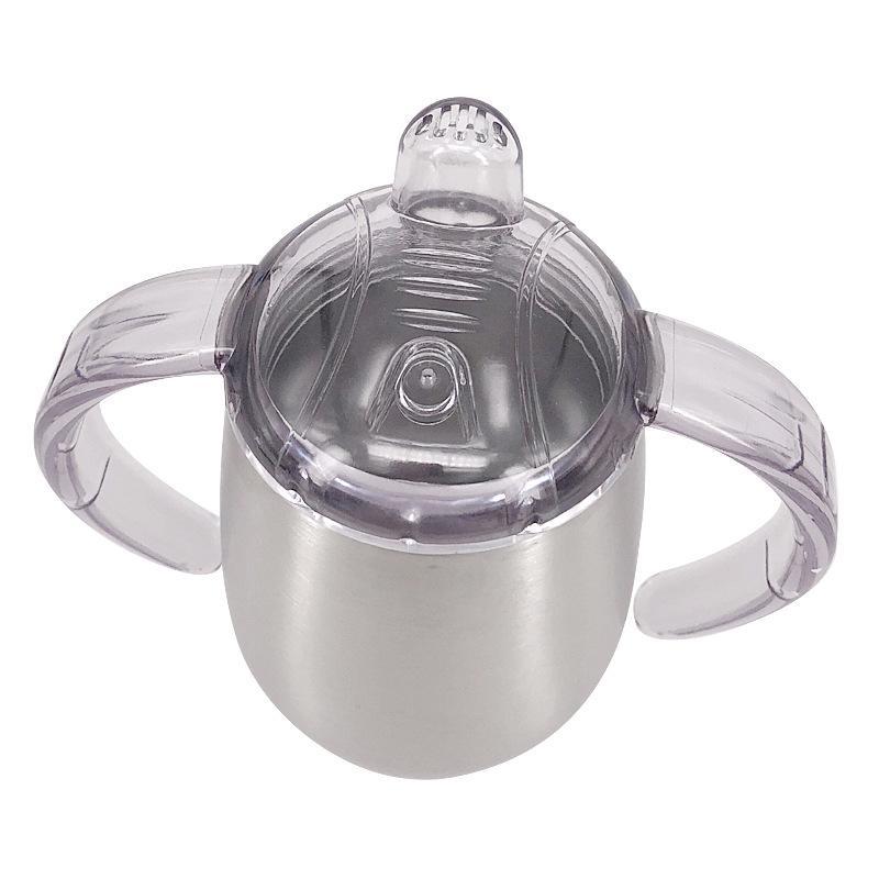 Aço inoxidável 10OZ Sippy Cup Cups chupeta com Handle caneca de café isolada vácuo Alimentação Caneca do leite do bebê A03