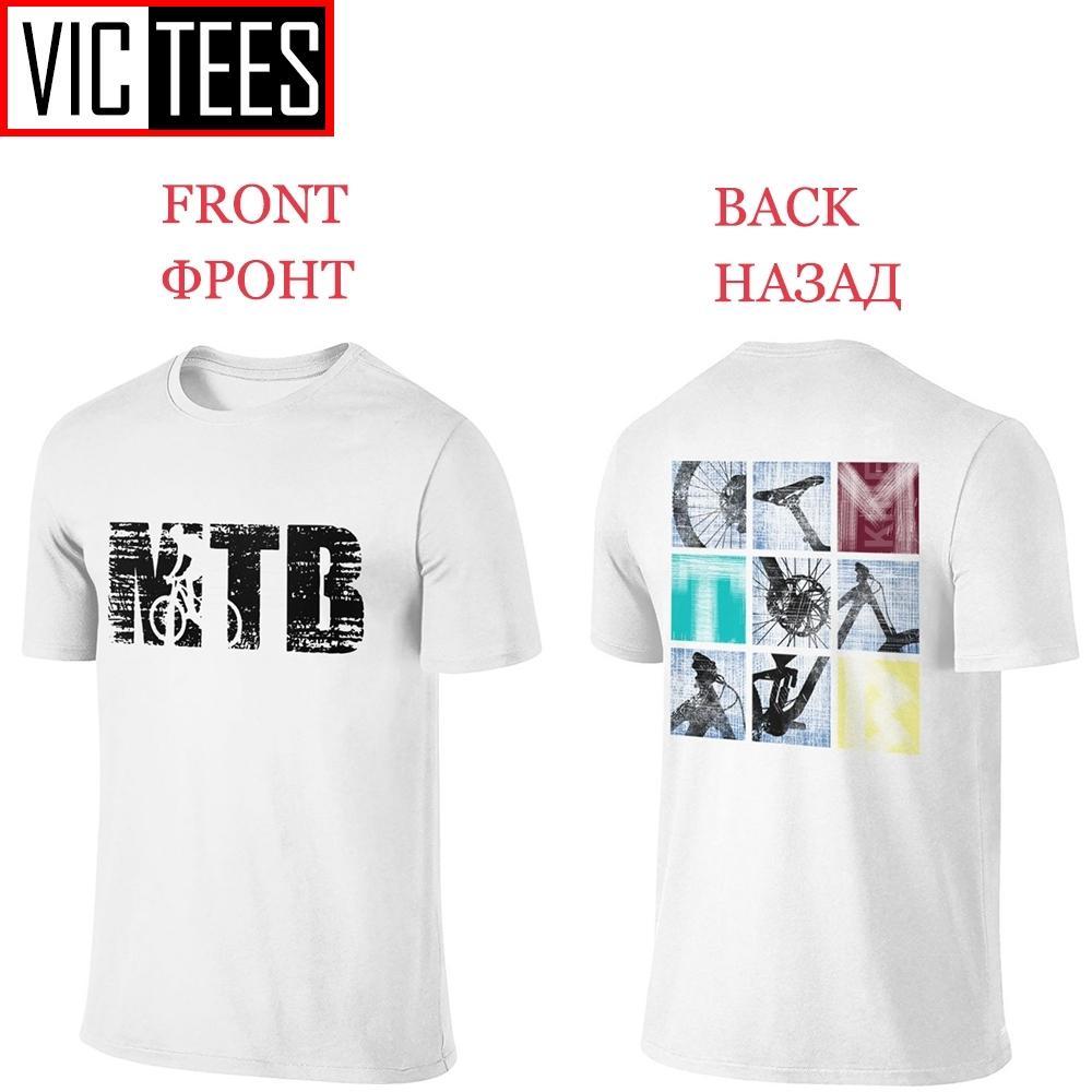 Männer Front und Rückseite T-Shirt Mtb Mountainbike-T-Shirt 2020 Weinlese-Brief zwei Seiten aus reiner Baumwolle Druck T Shirting