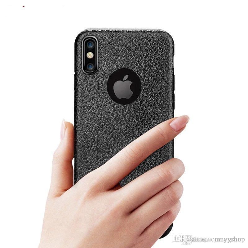 HOT Super Fino textura Phone Cases para iPhone xs max xr x 8 7 6 6S 8 Plus caso do iphone Luxo 7plus macio TPU Comfort tampa traseira