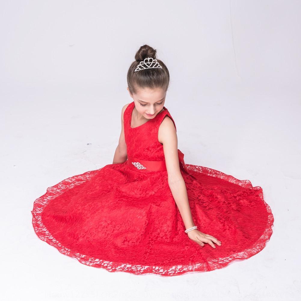 hlMZW chica partido del cordón del regalo del aniversario de la princesa dulce de la celebración vestido de noche vestido de noche vestido de los niños celebración Gvxsw