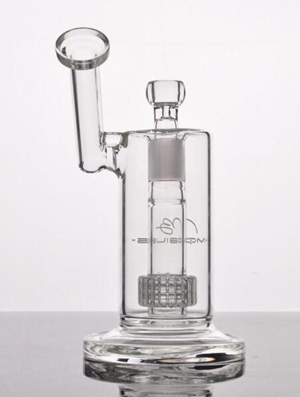 En stock 22.5cm Mobius verre Matrice de sidecar bong birdcage perc pipes d'eau de Bangs de verre en verre épais avec FY2301 joint 18 mm